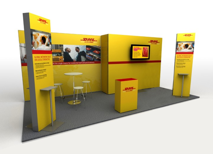 dhl tradeshow booth