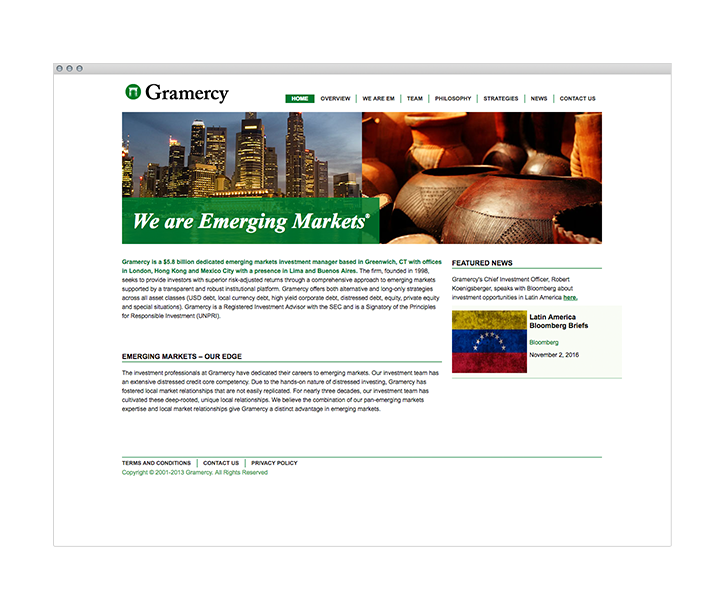 gramercy webpage browser