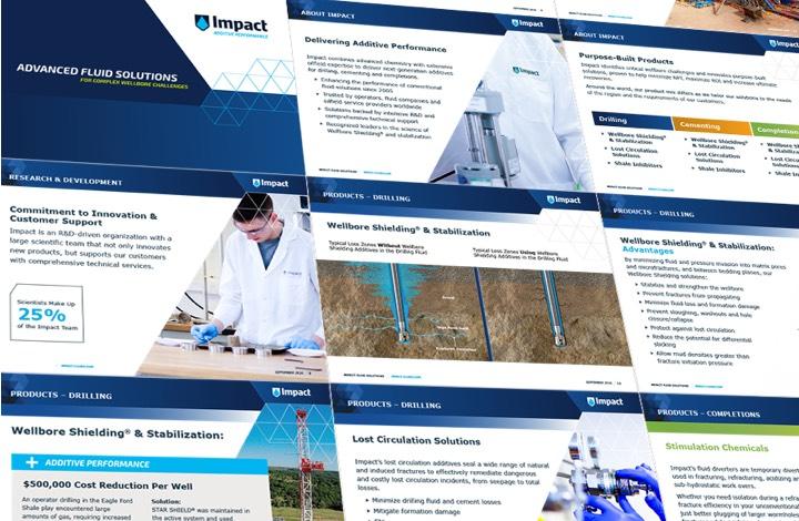 impact fluids collage